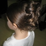 flower girl hair by reema